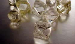ethics. Image of rough diamonds