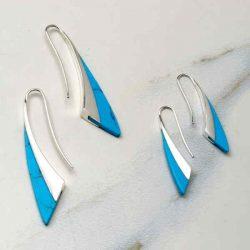 turquoise drop earrings hooks