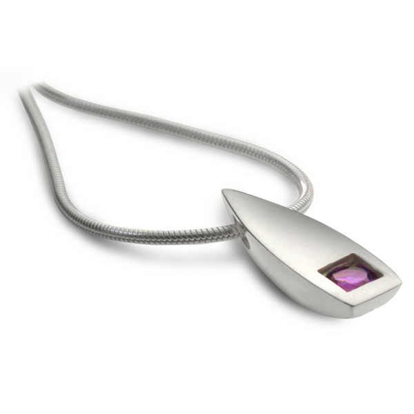 Contemporary Gem flame pendant
