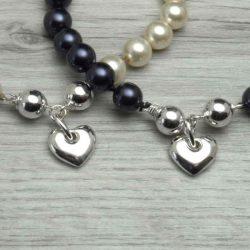Swarovski pearl bracelet closeup