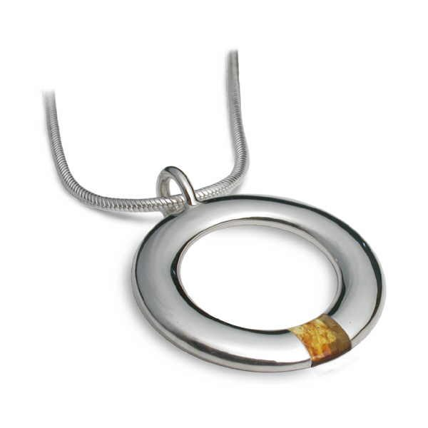 Amber hoop necklace