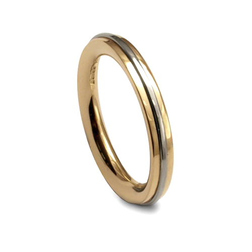 Apollo yellow and white gold wedding band