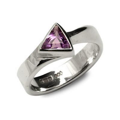 amethyst arrow ring