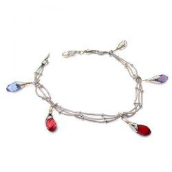 Swarovski strands bracelet in silver and gold