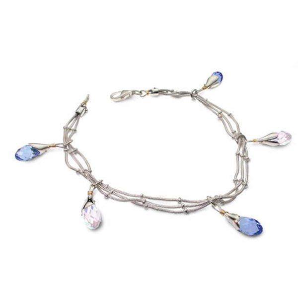 Swarovski bracelet blue and clear