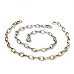 Fine navette bracelets in silver and gold