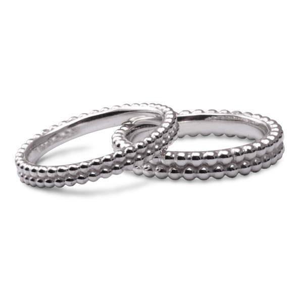 Silver bobble rings