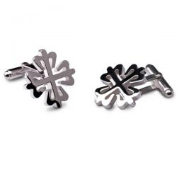 Silver Calartrava cross cufflinks