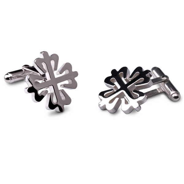 Argentium silver Calatrava cross cufflinks