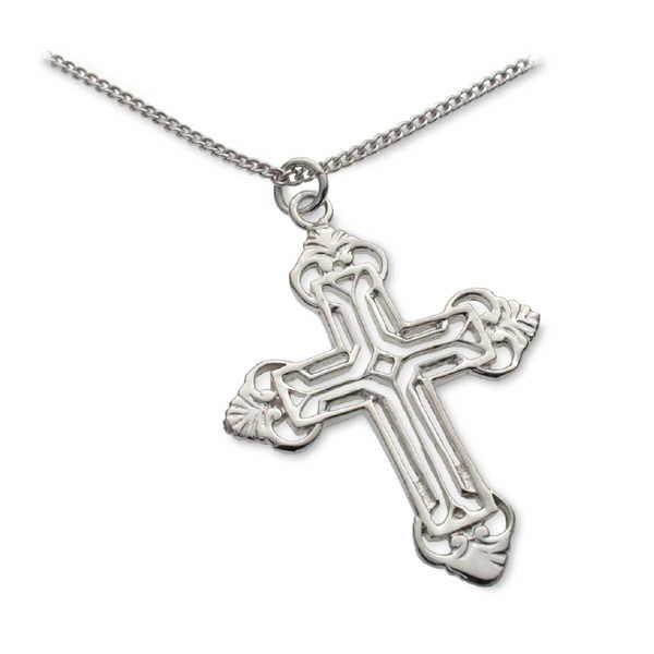 Silver Coptic cross pendant
