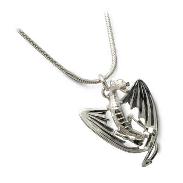 Dragon pendant in silver