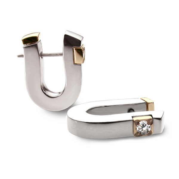 Diamond cusp earrings