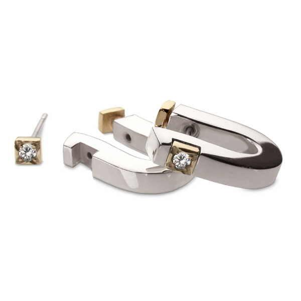 Diamond cusp earrings again