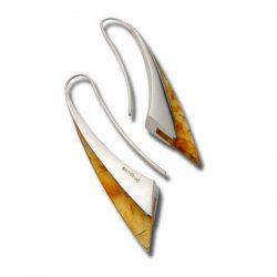 Amber fluidity earrings in silver