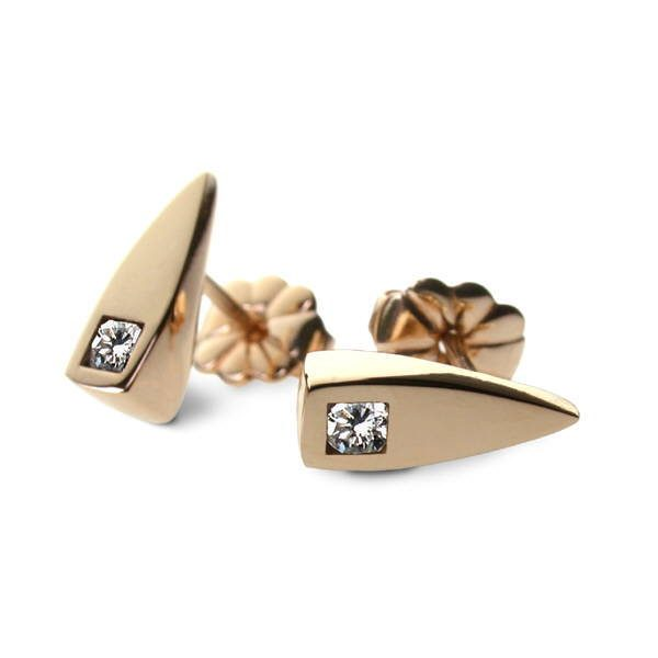 Gold diamond studs