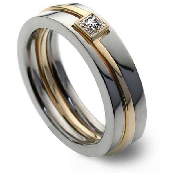 Europa diamond ring with princess diamond