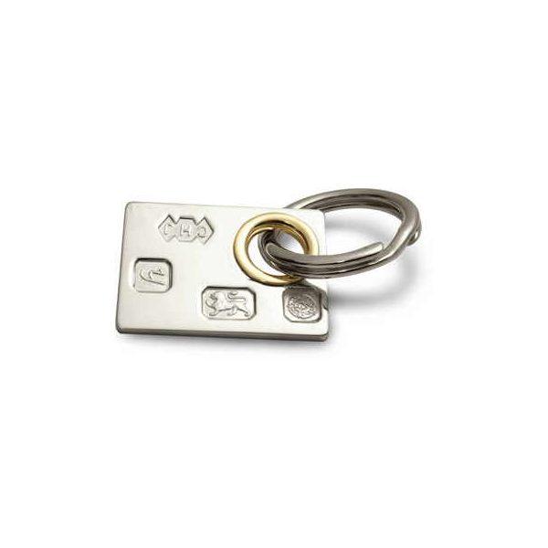 Heavy hallmarked key ring