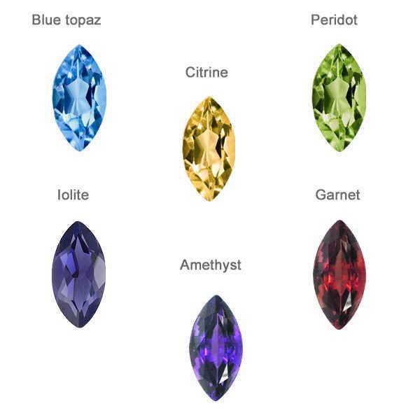 Marquise gem stones