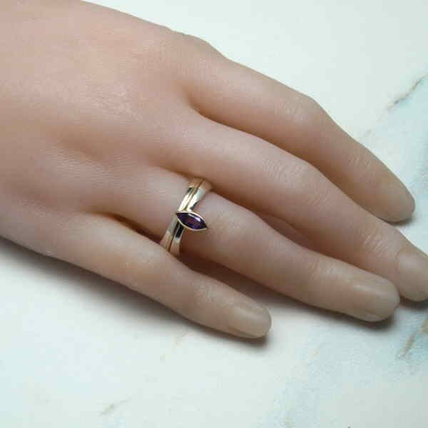 marquise ring on hand 2