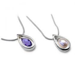 Swarovski & pearl pendants