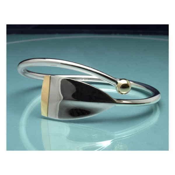 Silver and gold classic Regatta oar bangle