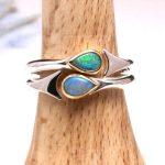 Opal fishtail rings