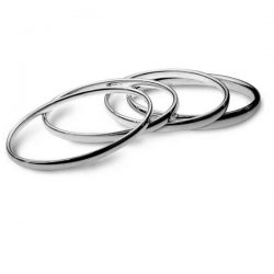 Plain silver bangles