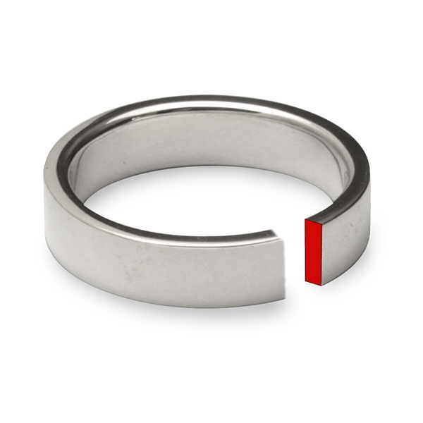 Plain rectangular section ring