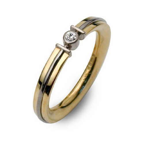Apollo light ring set with diamond