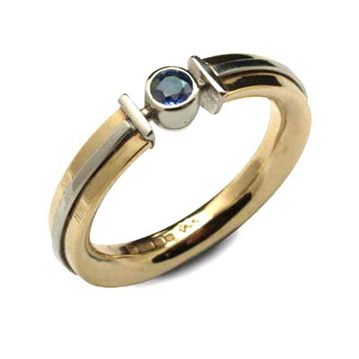 Gold and sapphire ring