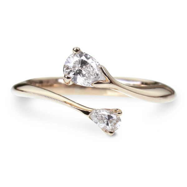 Celeste pear diamond engagement ring