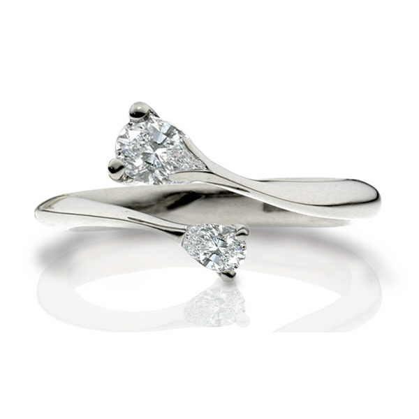 white gold celeste pear diamond engagement ring