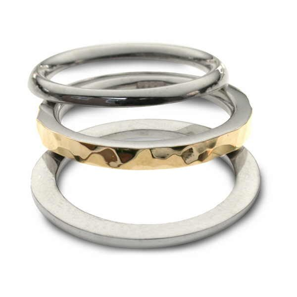 Silver and gold Twist ring spread out