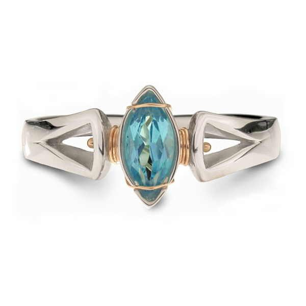 marquise ring blue topaz
