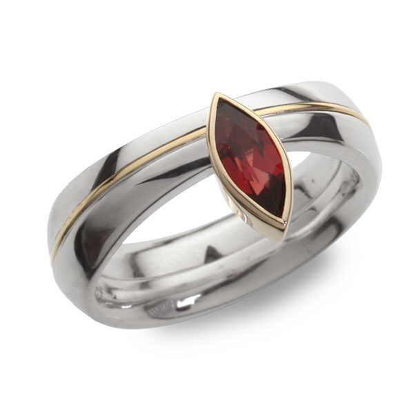Marquise split ring