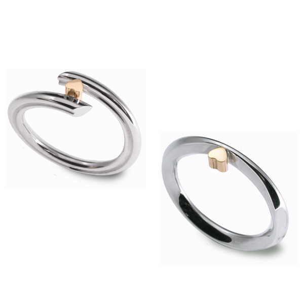 Single gold heart rings