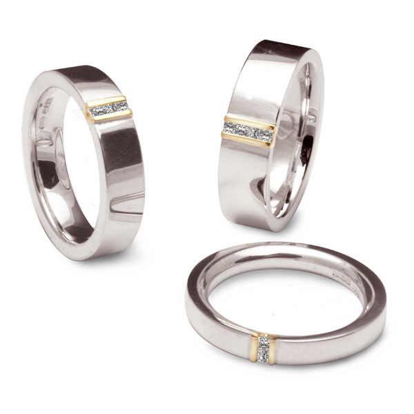 Princess diamond channel rings