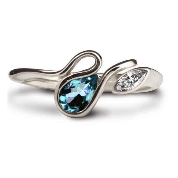 Silver calypso blue topaz