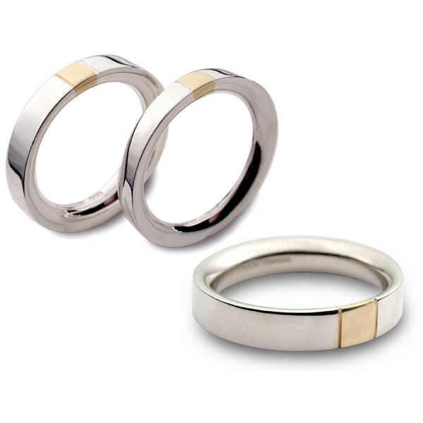 Reversed D section gold stripe rings