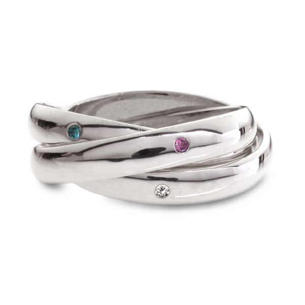 Diamond set Russian wedding ring