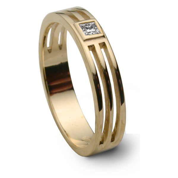Saturn diamond ring