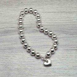Silver bead bracelet