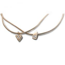 Tiny gold and diamond necklaces