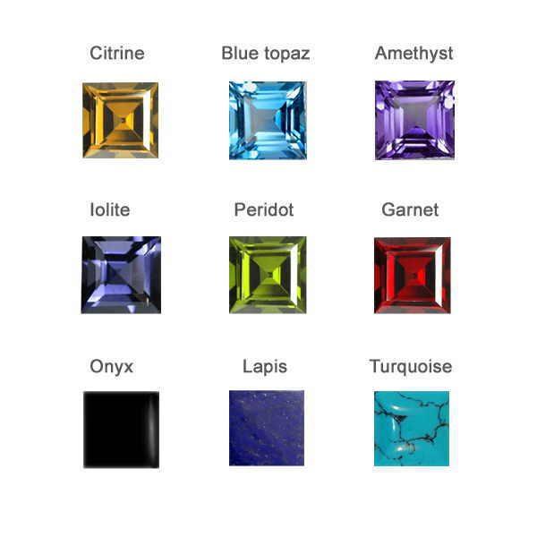 Square gem stone choices