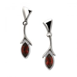 swerve-earrings in silver diamonds and gemstones