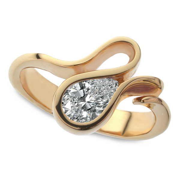 Telesto pear diamond ring