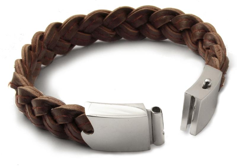 leather bracelet open