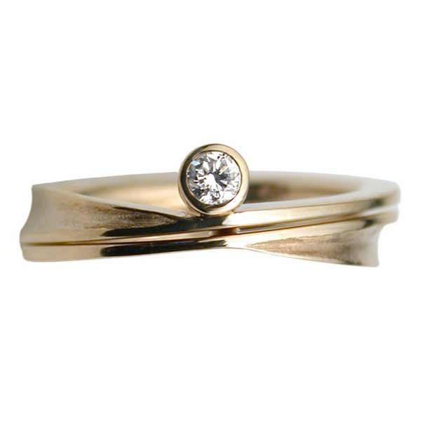 Cressida band in gold and diamond