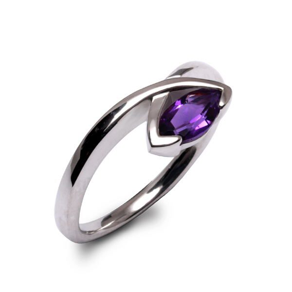 marquise-clasp ring