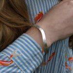 Silver river on wrist